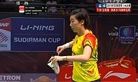 于洋/王晓理VS纳西尔/尼蒂娅 2013苏迪曼杯 女双1/4决赛视频