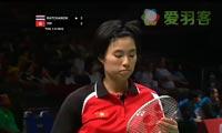 因达农VS叶姵延 2013苏迪曼杯 女单资格赛视频
