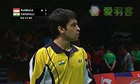 卡什亚普VS狄奥尼修斯 2013苏迪曼杯 男单资格赛视频