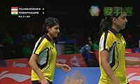 波莉/尼蒂娅VS蓬纳帕/加德雷 2013苏迪曼杯 女双资格赛视频