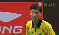 胡赟VS波萨那 2013苏迪曼杯 男单资格赛视频
