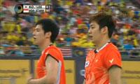 阿山/塞蒂亚万VS高成炫/李龙大 2013马来公开赛 男单决赛视频