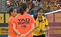 松友美佐纪/高桥礼华VS萨里/姚蕾 2013马来公开赛 女双半决赛视频