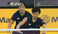 李龙大/高成炫VS桥本博且/平田典靖 2013马来公开赛 男双1/4决赛视频