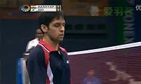 孙完虎VS卡什亚普 2012印度公开赛 男单半决赛视频