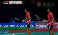 博丁/玛尼蓬VS普拉塔玛/萨普特拉 2012印度公开赛 男双半决赛视频