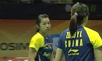 田卿/赵芸蕾VS彼德森/尤尔 2011香港公开赛 女双半决赛视频