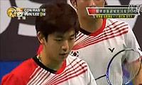 李龙大/郑在成VS彼德森/拉斯姆森 2011丹麦公开赛 男双1/8决赛视频