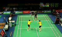 刘小龙/邱子瀚VS伊万诺夫/索松诺夫 2011丹麦公开赛 男双1/8决赛视频