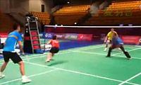 中国混双赛前适应性训练 2011丹麦羽毛球公开赛
