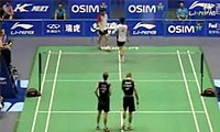 鲍伊/摩根森VS曹建雨/权伊九 2011中国大师赛 男双1/8决赛视频