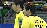 郑在成/李龙大VS陈文宏/古健杰 2011韩国公开赛 男双半决赛视频