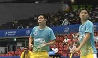 蔡赟/傅海峰VS古健杰/陈文宏(第三局) 2010日本公开赛 男双决赛视频