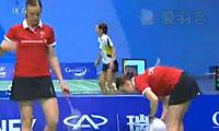 周蜜/王晨VS尤尔/克里斯蒂安森 2009苏迪曼杯 女双资格赛视频
