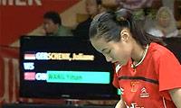 王仪涵VS申克 2011印尼公开赛 女单1/4决赛视频