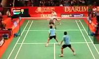 阿山/博纳VS扎克里/云天豪 2011印尼公开赛 男双1/16决赛视频