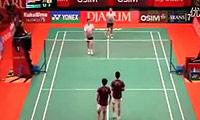蔡赟/傅海峰VS阿尔文/古纳万 2011印尼公开赛 男双1/16决赛视频