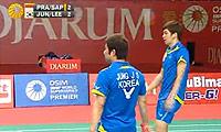 普拉塔玛/萨普特拉VS郑在成/李龙大 2011印尼公开赛 男双1/8决赛视频
