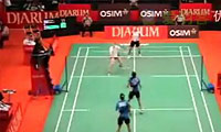 伊马万/蒂亚拉VS布鲁斯/李文珊 2011印尼公开赛 女双1/16决赛视频