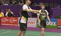 于洋/何汉斌VS雷伯恩/尤尔(第一局) 2010世锦赛 混双1/4决赛视频