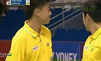 陈文宏/古健杰VS李龙大/郑在成(第一局) 2010世锦赛 男双1/4决赛视频