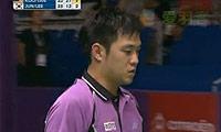 陈文宏/古健杰VS李龙大/郑在成(第三局) 2010世锦赛 男双1/4决赛视频