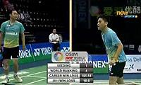 桥本博且/平田典靖VS陈文宏/古健杰 2011印度公开赛 男双半决赛视频