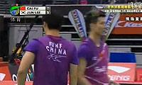 蔡赟/傅海峰VS郑在成/李龙大 2011新加坡公开赛 男双半决赛视频