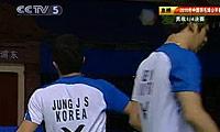 郑在成/李龙大VS蔡赟/傅海峰 2010中国公开赛 男双1/4决赛视频