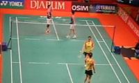 于洋/王晓理VS马晋/汤金华 2013印尼公开赛 女双半决赛视频