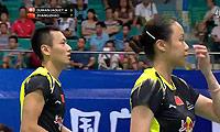 张楠/赵芸蕾VS迪马尔特雷/贾奎特 2013世锦赛 混双1/16决赛视频