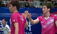 高成炫/李龙大VS邦德/彼德森 2013羽毛球世锦赛 男双1/16决赛视频