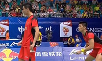 蔡赟/傅海峰VS云天豪/陈伟强 2013羽毛球世锦赛 男双1/8决赛视频
