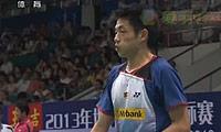 谌龙VS刘国伦 2013羽毛球世锦赛 男单1/8决赛视频