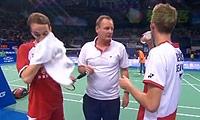 鲍伊/摩根森VS金基正/金沙朗 2013羽毛球世锦赛 男双半决赛视频