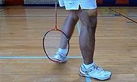 羽毛球步法:并步