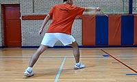 羽毛球步法:反手上网步法