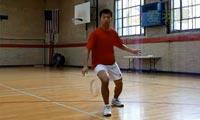 羽毛球步法:上网步法连接
