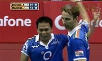 鲍伊/基多VS摩根森/迪瓦卡 2013印度羽毛球联赛 男双资格赛视频