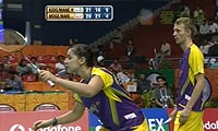 摩根森/马琳VS基多/马尼莎 2013印度羽毛球联赛 混双资格赛视频