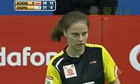 辛德胡VS申克 2013印度羽毛球联赛 女单资格赛视频