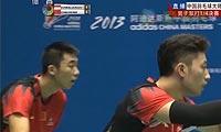 柴飚/洪炜VS费尔纳迪/基多 2013中国大师赛 男双1/4决赛视频