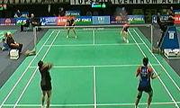 杜芃/熊梦静VS沙威丽/娜丽莎帕 2013荷兰公开赛 女双1/8决赛视频