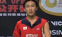 桃田贤斗VS茨维布勒 2013中国公开赛 男单1/16决赛视频