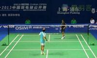 上田拓马VS帕瓦尔 2013中国公开赛 女单1/16决赛视频