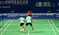伊万诺夫/索松诺夫VS埃特里/雷迪 2013中国公开赛 男双1/16决赛视频