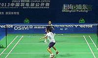 王睁茗VS杜鹏宇 2013中国公开赛 男单1/4决赛视频