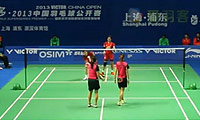 于洋/王晓理VS潘乐恩/谢影雪 2013中国公开赛 女双1/8决赛视频