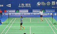 王仪涵VS阿伦达蒂 2013中国公开赛 女单1/8决赛视频