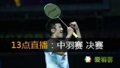 2013年中国羽毛球公开赛决赛 对阵表